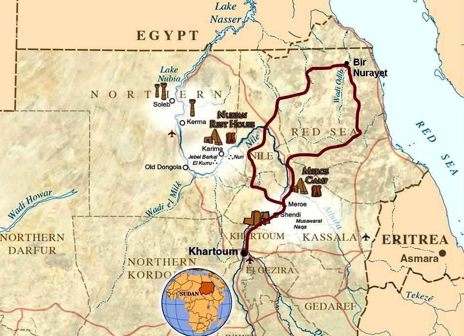 Nubian Deserts - Italian Tourism Co. Sudan on map of amarna, map of great zimbabwe, map of elephantine, map of lower nubia, map of faiyum, map of kush, map of napata, map of adulis, map of ur, map of meroe,